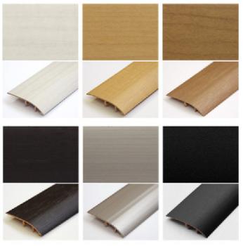 フローリング床の段差見切り材のカラーバリエーションの画像