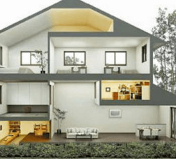 ミサワホーム「蔵のある家」の断面画像