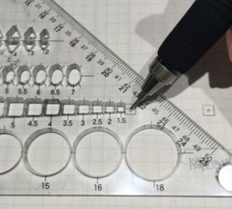 一級建築士製図試験で補助線を省略する方法6mスパンの場合