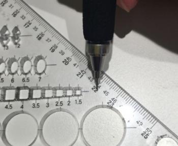 一級建築士製図試験で補助線を省略する方法7mスパンの場合