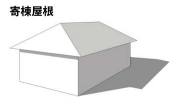 寄棟屋根のイメージ画像
