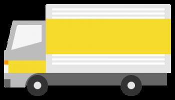 引っ越しトラックのイラスト画像