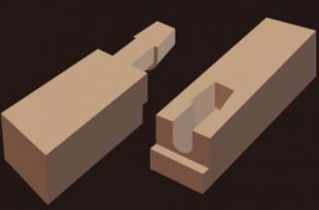 木材のジョイント「腰掛鎌継ぎ」の画像