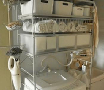 無印良品の洗濯機上ラックの画像