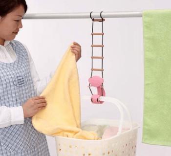 腰楽洗濯カゴフックを使っている画像
