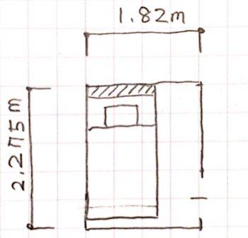 子供部屋2.5畳の手書き平面図の画像