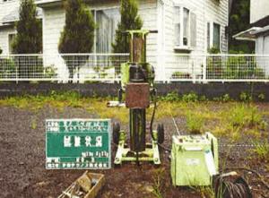 地盤調査スウェーデン式サウンディング試験機材の画像