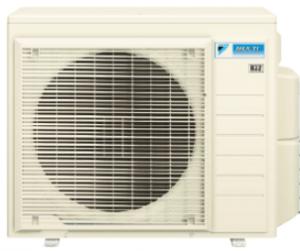 全館空調のビルマルチエアコンの室外機の画像