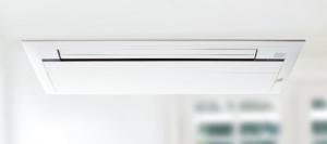 ビルマルチエアコンの天井埋め込みカセット型の画像