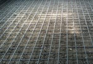 土間の鉄筋を組んだ画像