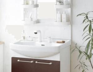 クリナップの洗面台BTSの施工例画像