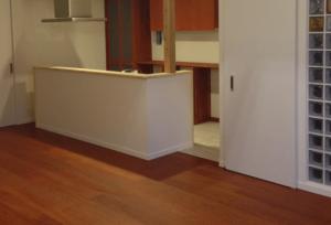 フローリング無垢床暖対応施工画像