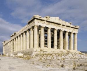 一級建築士試験の計画に出るパルテノン神殿(古代ギリシャ)の画像