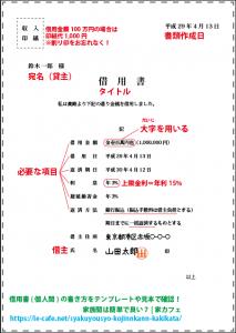 借用書の記載例by家カフェ