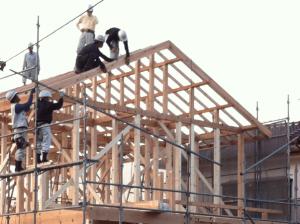 大工工事建て方の画像