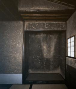 妙喜庵待庵の2帖の茶室と床の内観画像