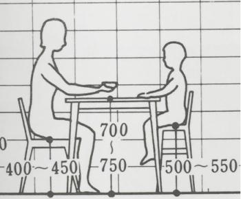 ダイニングテーブルと椅子での食事のイメージ画像