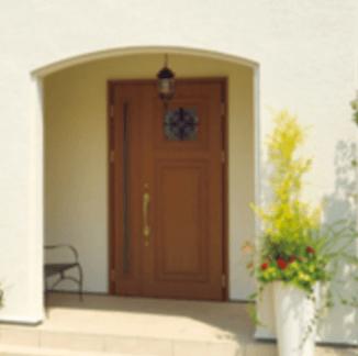 三井ホーム「シュシュ・チャーム」の特徴的なアールの玄関アーチの画像
