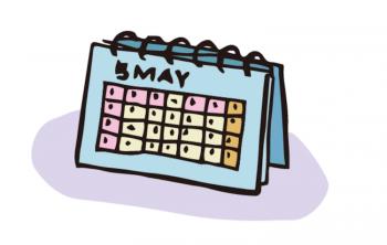 卓上カレンダーのイラスト画像