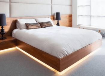家具(ベッド)下間接照明の画像