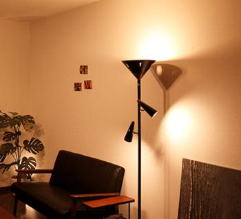 スタンド間接照明LEDフロアーライト・シスベックアッパーリモートの画像