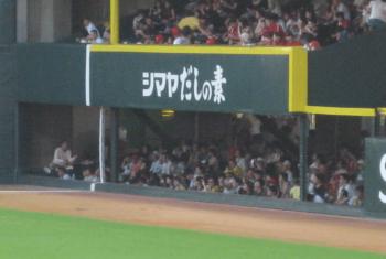 マツダスタジアムの外野砂かぶり席の画像