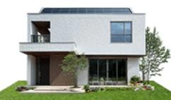 ミサワホームの鉄骨系商品HYBRID FASIAの外観デザイン画像