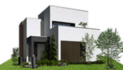 ミサワホームの鉄骨系商品HYBRID FORMの外観デザイン画像