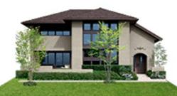ミサワホームの鉄骨系商品HYBRID Private Freeの外観デザイン画像