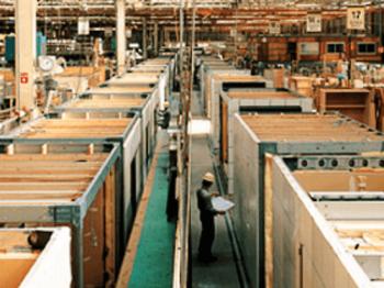 セキスイハイムのユニット工場の画像