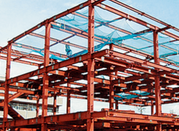 鉄骨造ラーメン架構形式の施工画像