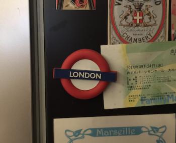 冷蔵庫に貼る磁石の画像