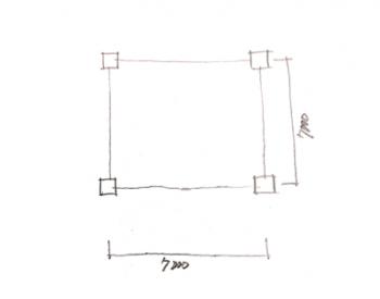 一級建築士製図試験で階段を早く書く方法01