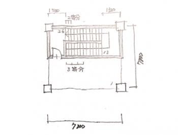 一級建築士製図試験で階段を早く書く方法08