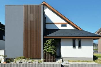 住友林業の縦格子を使用した家の外観画像04