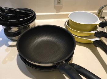 フライパンと鍋全種類の画像