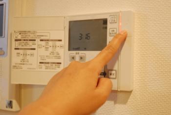 床暖房のコントロールパネルの画像